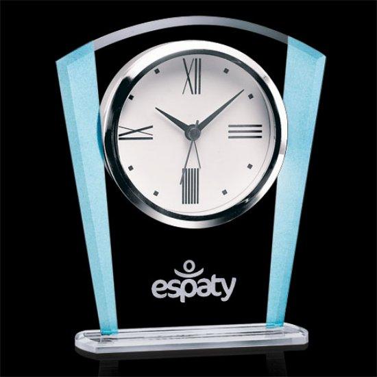Delfino Clock - Clear/Blue