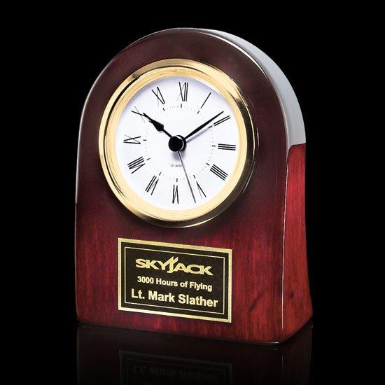 Alexis Clock - Rosewood/Gold