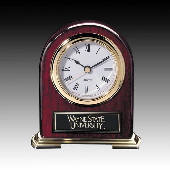 Birmingham Clock - Rosewood/Gold