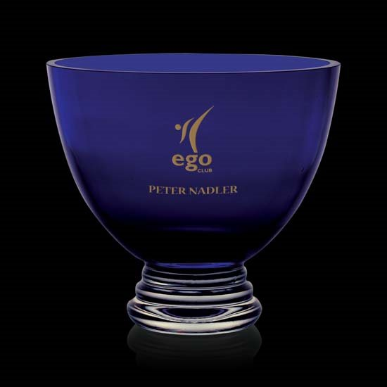 Alexandra Footed Bowl - Cobalt