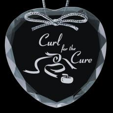 """Personalized Corporate Gifts - Optical Ornament - Heart 3"""""""