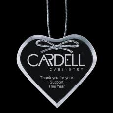 """Personalized Corporate Gifts - Starfire Ornament - Heart 3"""""""