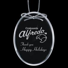 """Personalized Corporate Gifts - Starfire Ornament - Oval 4"""""""