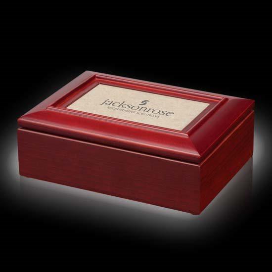 Alda Trinket Box - Mahogany/Sandstone
