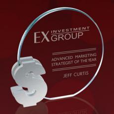 Custom Corporate Acrylic Awards - Clement Dollar