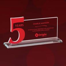 Custom Corporate Acrylic Awards - Leominster 5 Years