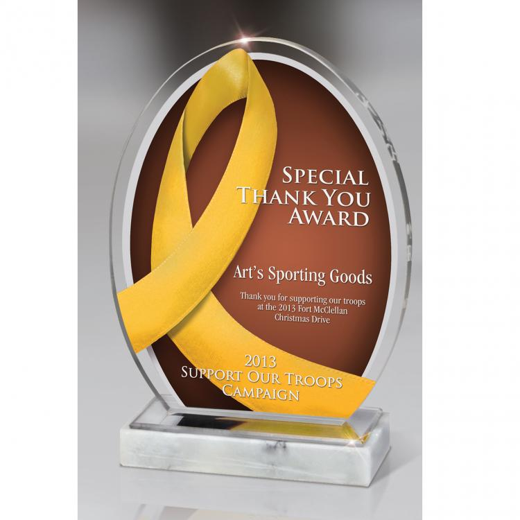 Yellow Ribbon Award Lucite