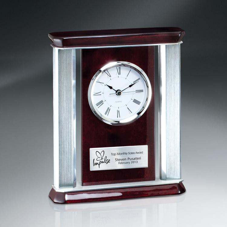 Rosewood Piano Wood Desk Clock