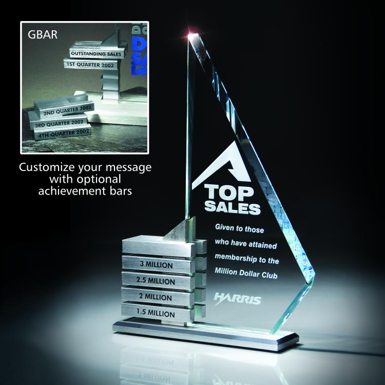Perpetual Excellence Starphire Glass/Aluminum Levels Award