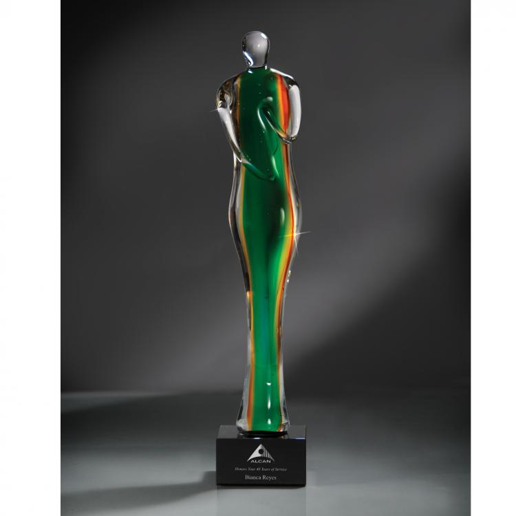 Artisan Glass Silhouette of Success Award with Glass Base