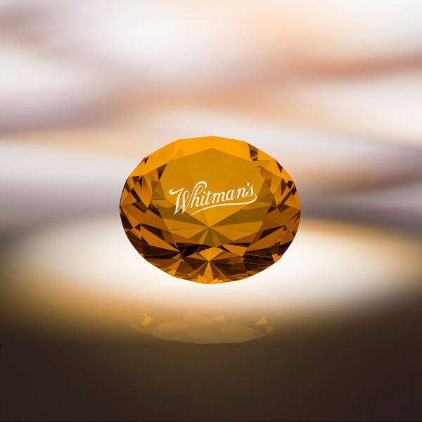 Amber Diamond Paperweight