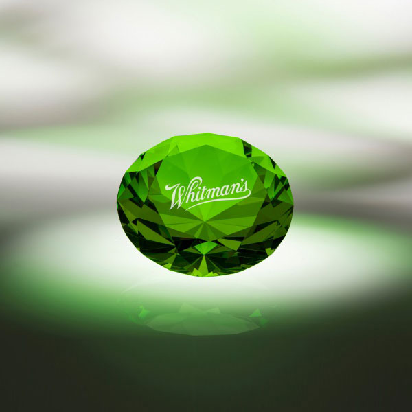 Green Diamond Paperweight