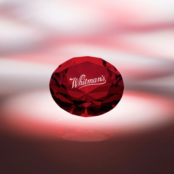 Red Diamond Paperweight