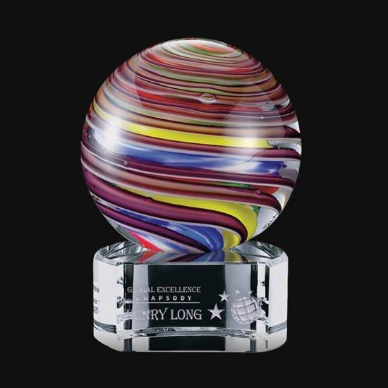 Lunar Award on Clear Base