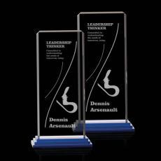 Custom-Engraved Crystal Awards - Delta Award