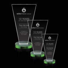 Custom-Engraved Crystal Awards - Burney Award