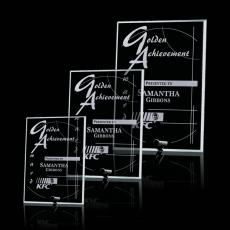 Custom-Engraved Crystal Awards - Cantebury Rectangle Vertical