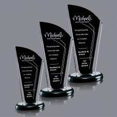 Black Acrylic Awards - Bridgewood Award