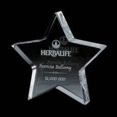 Sales Recognition Awards - Standing Star - Optical 4""