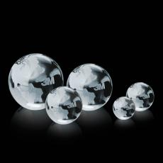 Optic Crystal Awards - Globe Paperweight