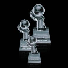 Optic Crystal Awards - Globe on Hand