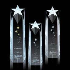 Custom-Engraved Crystal Awards - Ellesmere Star Obelisk