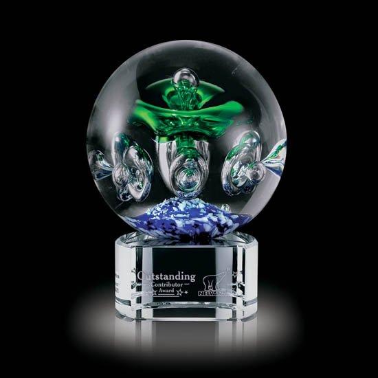 Aquarius Award on Clear Base