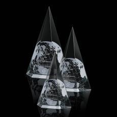 Custom-Engraved Crystal Awards - Peak Award