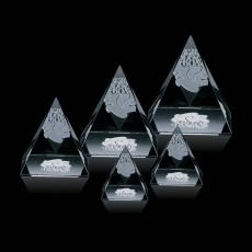 Custom-Engraved Crystal Awards - Optical Pyramid