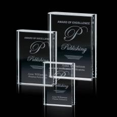 Custom-Engraved Crystal Awards - Optical Book