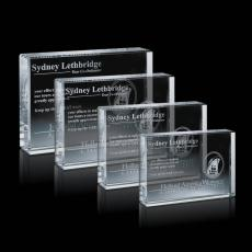 Custom-Engraved Crystal Awards - York Award
