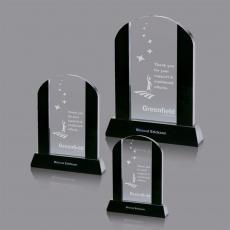 Custom-Engraved Crystal Awards - Harwood Award