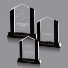 Custom-Engraved Crystal Awards - Remington Award