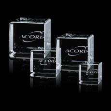 Custom-Engraved Crystal Awards - Davenport Cube