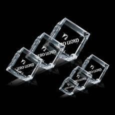 Custom-Engraved Crystal Awards - Carlton Cube