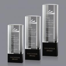 Custom-Engraved Crystal Awards - Burton Award