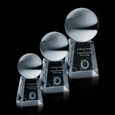 Crystal Globe Awards - Crystal Ball on Tall Base