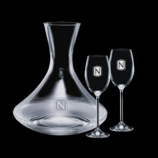 Wine Glasses - Senderwood Carafe & 2 Woodbridge Wine