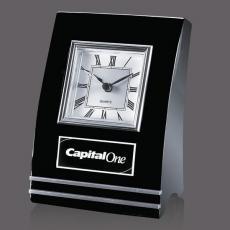 Metal Awards - Wickham Clock - Black/Aluminum