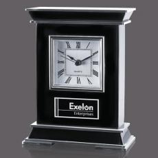 Metal Awards - Tilden Clock - Black/Aluminum