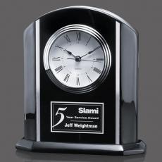 "Metal Awards - Putman Clock - Black/Aluminum 7-7/8"""