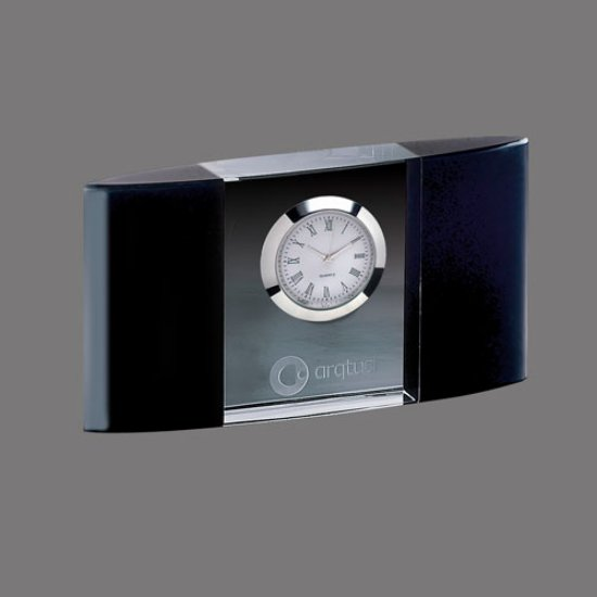 Atlanta Clock - Optical/Black