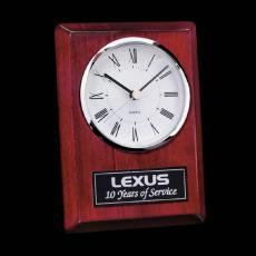 Metal Awards - Alexis Clock - Rosewood/Chrome