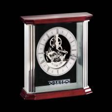 Metal Awards - Barwick Mantle Clock - Rosewood/Aluminum