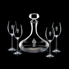 Wine Glasses - Stratford Decanter & 4 Wine