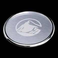 "Coasters - Cosburn Coaster - 4"" Chrome (Laser)"