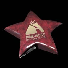 Desk Accessories - Elgin Star Paperweight - Rosewood