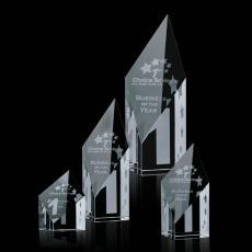 "Custom-Engraved Crystal Awards - Vertex Award - Optical 4"""