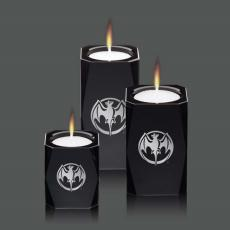 Candle Holders - Abbey Candleholders - Black (Set of 3)