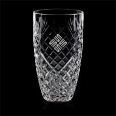 Custom-Engraved Crystal Awards - Taunton Vase - Lead Crystal